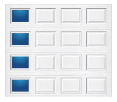 Model 501 Traditional - Modern Lite T LH - Single Door