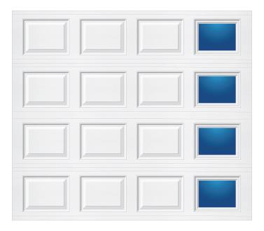 Model 501 Traditional - Modern Lite T RH - Single Door