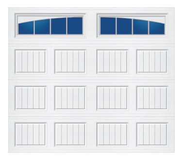 Model 20C Carriage - Arched Stockbridge - Single Door