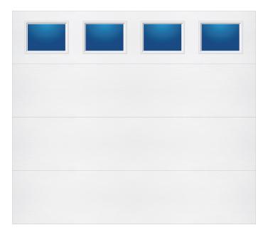 Model 608 Contemporary - Plain Lite T - Single Door