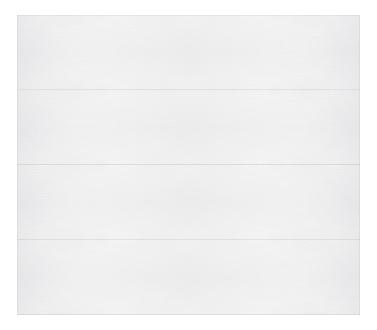 Model 608 Contemporary - Plain - Single Door