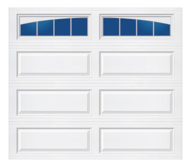 Model 628 Ranch - Arched Stockbridge - Single Door